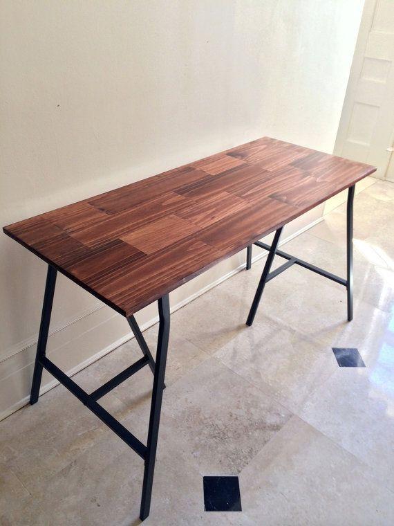 48x20 Desk Large Wood With Ikea, Red Oak Desk
