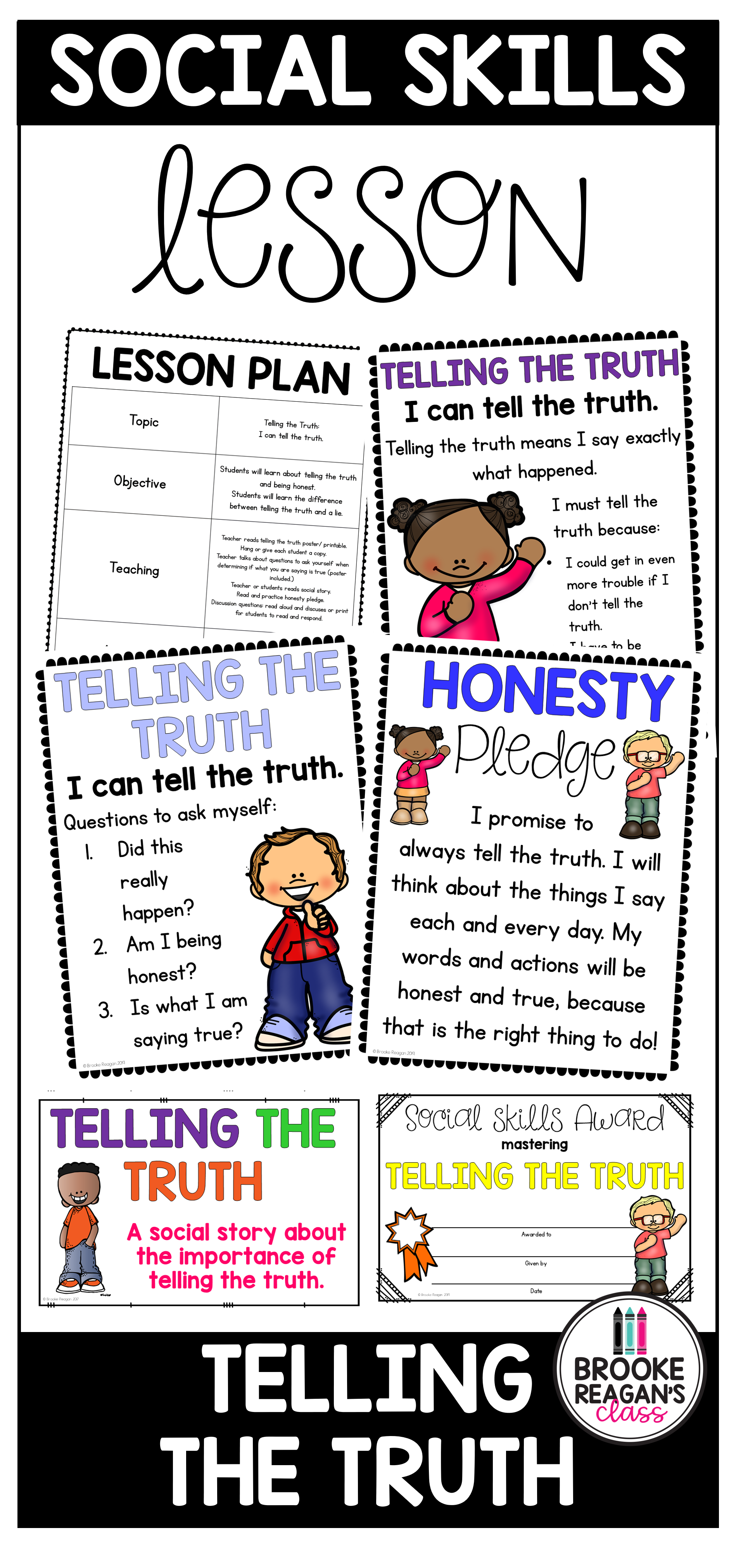 Social Skills Lesson Telling The Truth Social Skills Lessons Social Emotional Activities Social Emotional Learning