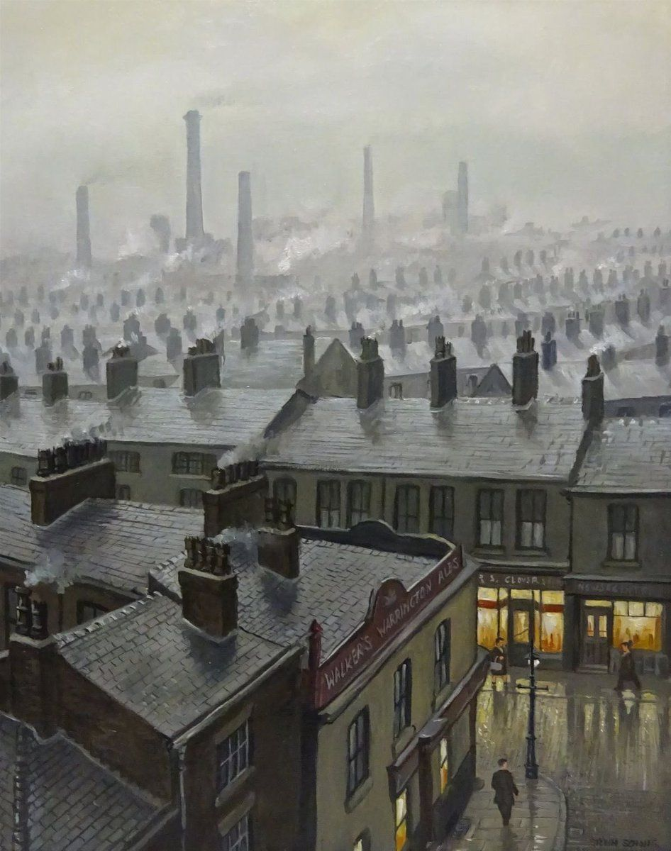 Hello Again Our Weather Has Gone Off It S Cold Wet And Utterly Miserable I Suppose This Painting By Steven In 2020 With Images Cityscape Art Winter Art Watercolor Art Paintings