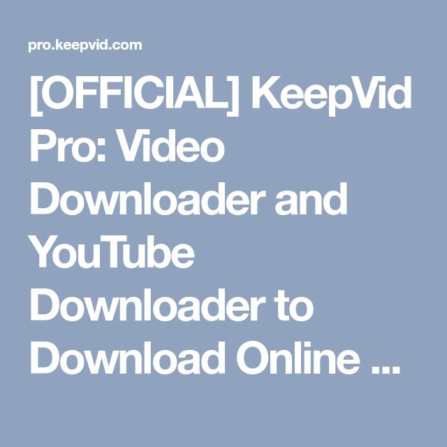 download video youtube online keepvid
