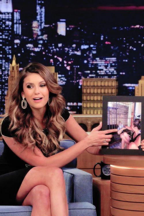 Nina Dobrev at The Tonight Show Starring Jimmy Fallon on August 5 2014