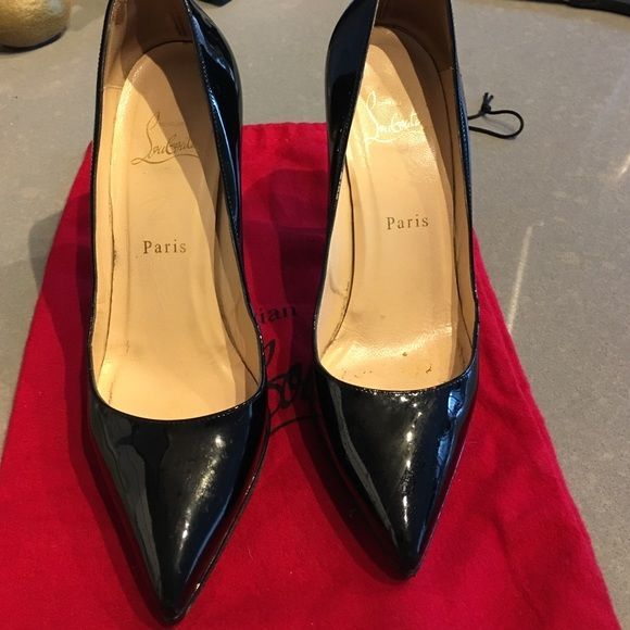 accacf5e9fd7 Beautiful shoes has LB repair the heel to make it look brand new pics  posted soon Christian Louboutin Shoes Heels