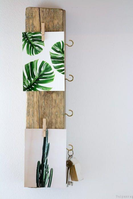 DIY Schlüsselbrett aus Treibholz - Wohnlichst