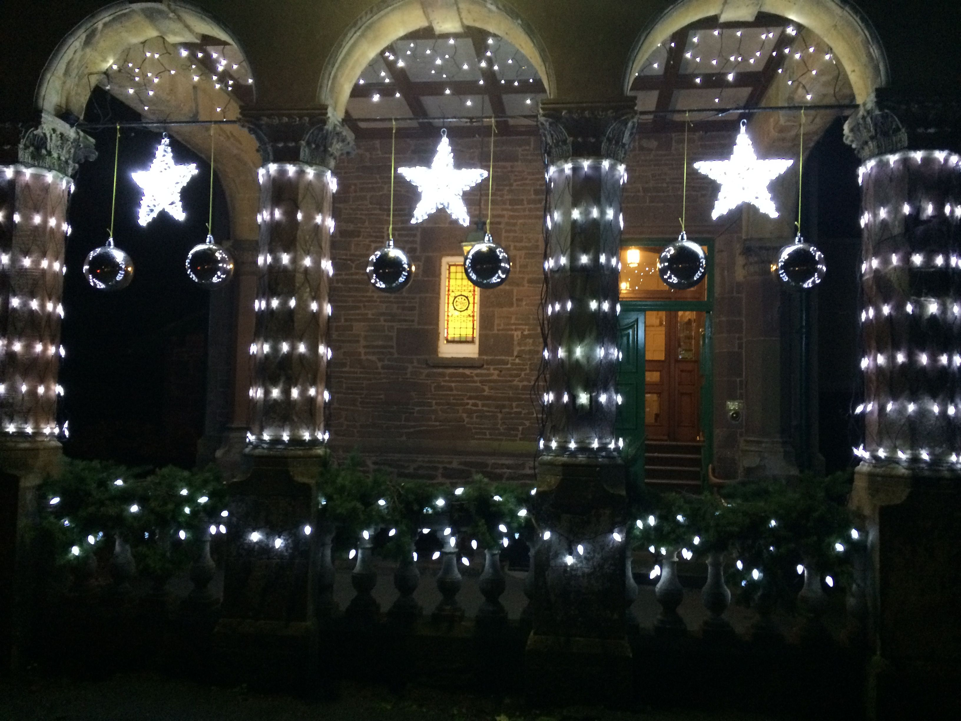 Christmas Lights At Gliffaes Country House Hotel Crickhowell Mid Wales