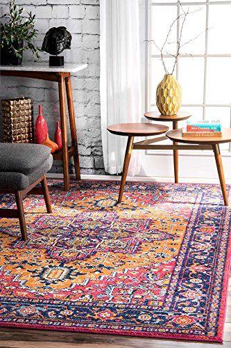 Traditional Area Rugs Vibrant Colors Rosette Design Conte Rugs Usa Orange Rugs Area Rugs