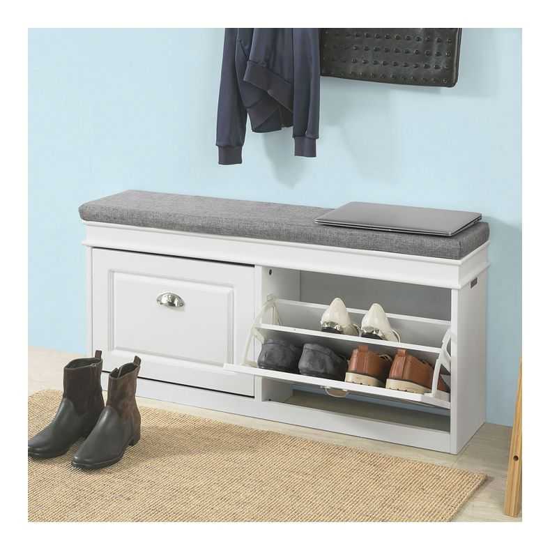 Sobuy Hallway Shoe Storage Bench Cabinet With Flip Drawer Cushion Fsr64 W Hallway Shoe Storage Bench Hallway Shoe Storage Bench With Shoe Storage