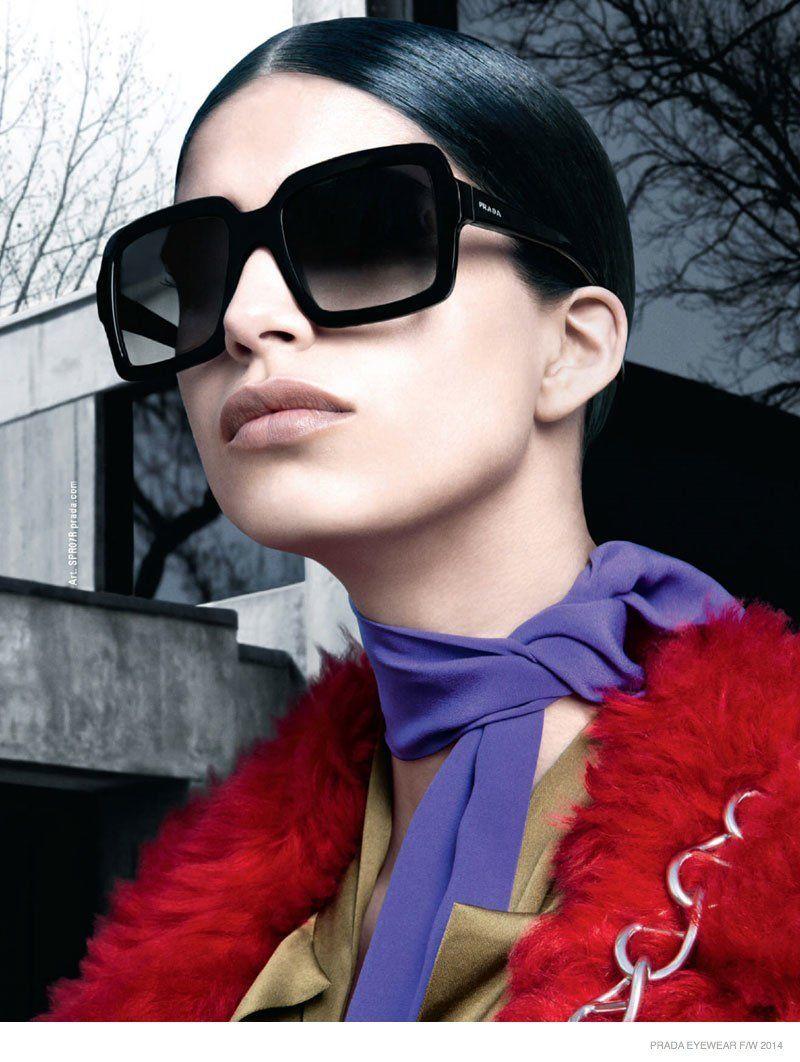 140bc6eb3a6 Prada Releases Fall 2014 Eyewear Campaign with Mica Arganaraz ...