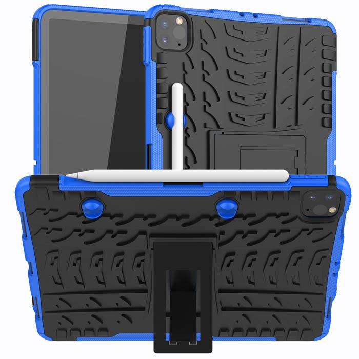 Hybrid Rugged iPad Pro 11 inch 2020 Kickstand Shockproof Case Blue
