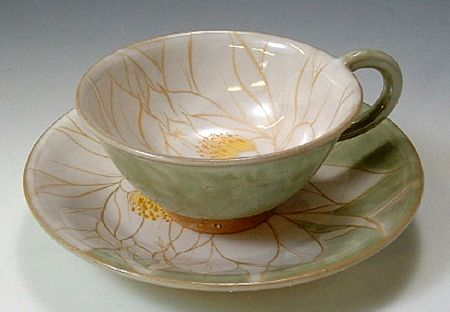 Night Blooming Cereus (White) Tea Cup & Saucer