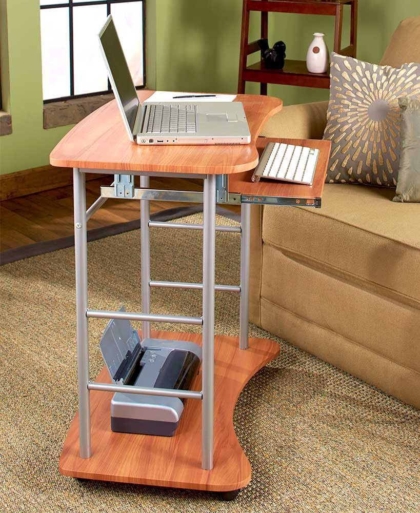 Rolling Computer Desk Cart Table Stand Portable Home Office Work Space Saver New Desk Computer Desk Home Office Furniture