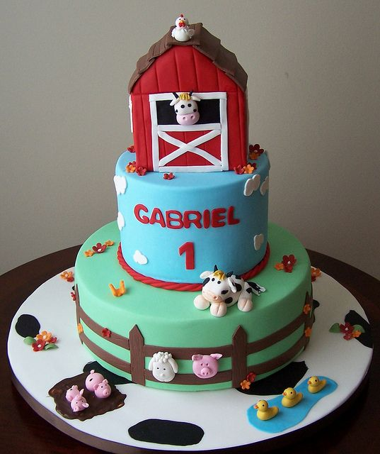 Farm Birthday Cakes Pinterest