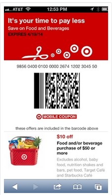 $10 off $50 Target Grocery Coupon | My favorite Coupons and