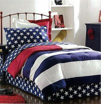 American Flag Bedding Set 8 Pc Full Comforter Sheets Shams By Store51 Http Www Amazon Com Dp B0030zvb78 Ref Cm Sw R Patriotic Bedroom Girls Bedding Sets Bed
