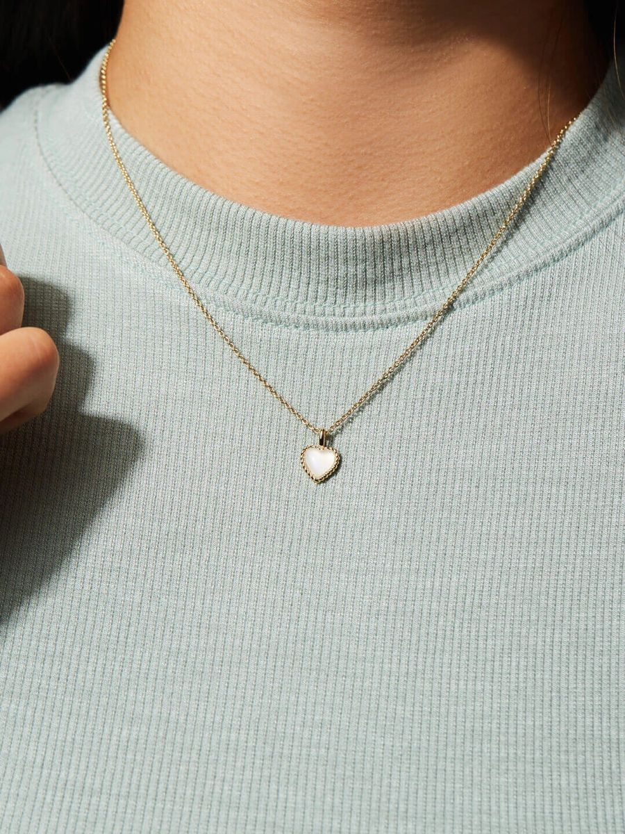 Moonstone Necklace Set ~ Stars and Heart ~ 14k Plated Brass Chain ~ Minimalist ~ Gift ~ Boho