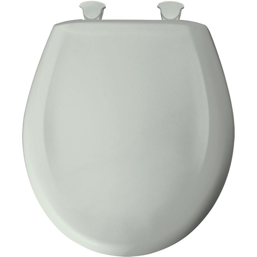 Bemis Round Closed Front Toilet Seat In Sage Green Toilet Home