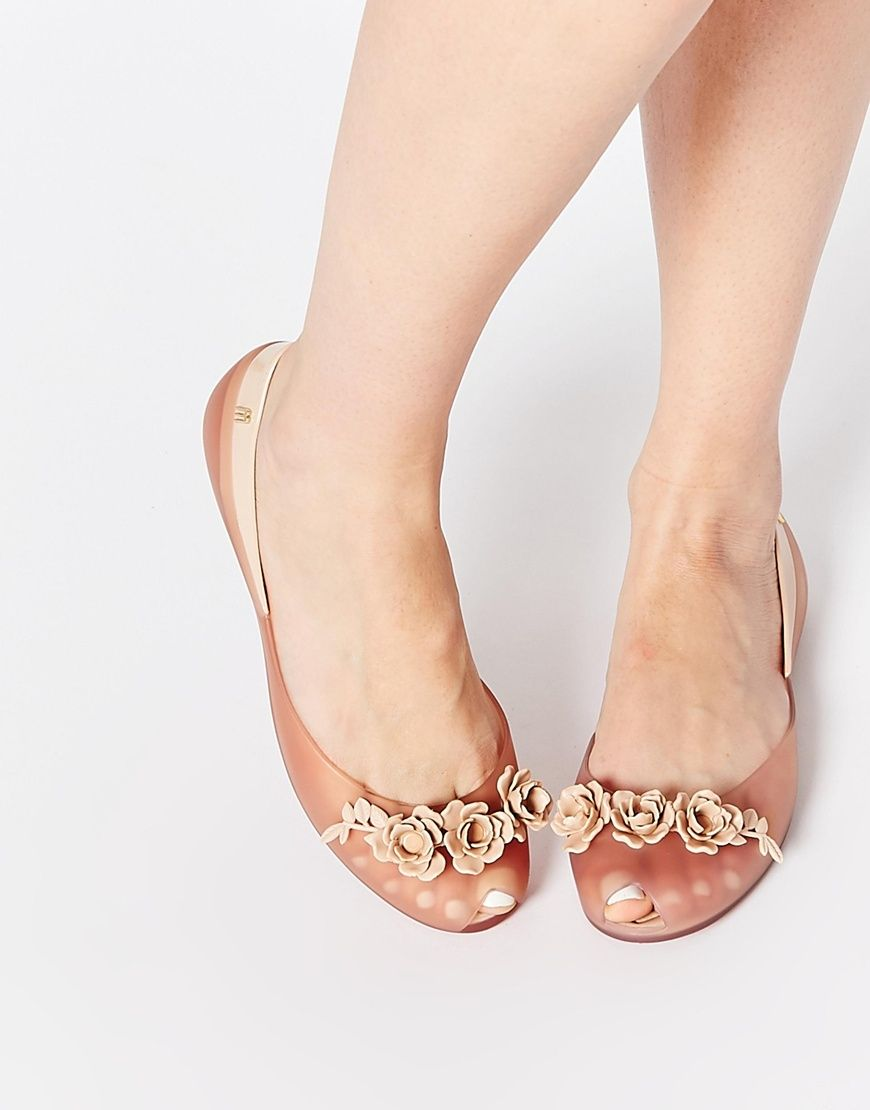 Buy Women Shoes / Melissa And Alexandre Herchcovitch Flower Queen Champagne Flat Shoes