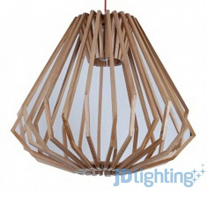 fiorentino ragusa wood veneer large pendant light