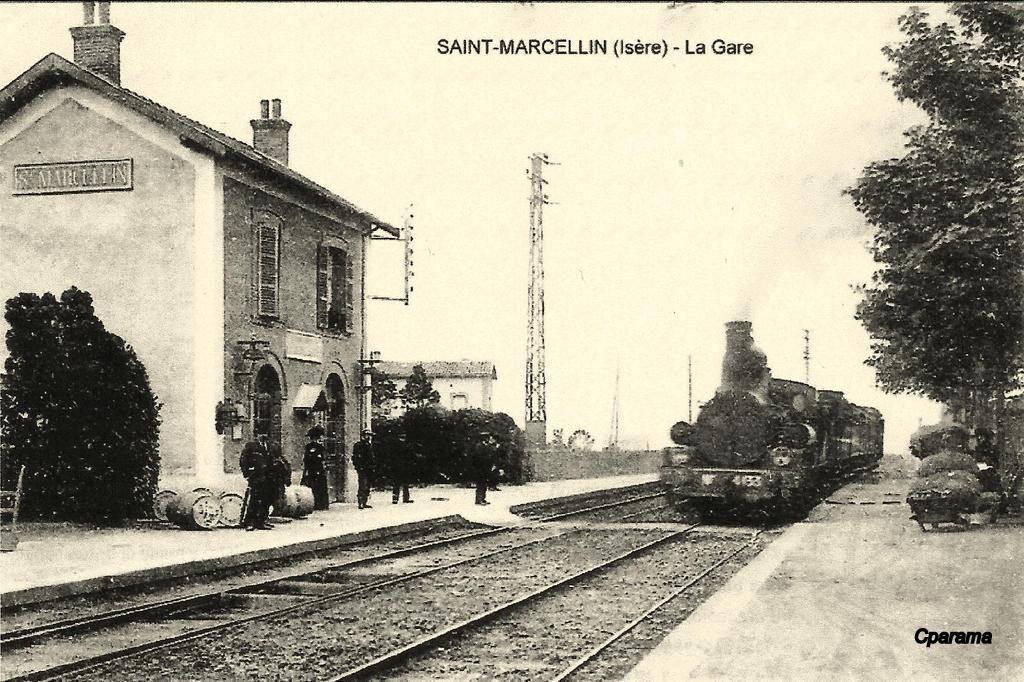St Marcellin 38 Sncf Train Gare Carte Postale
