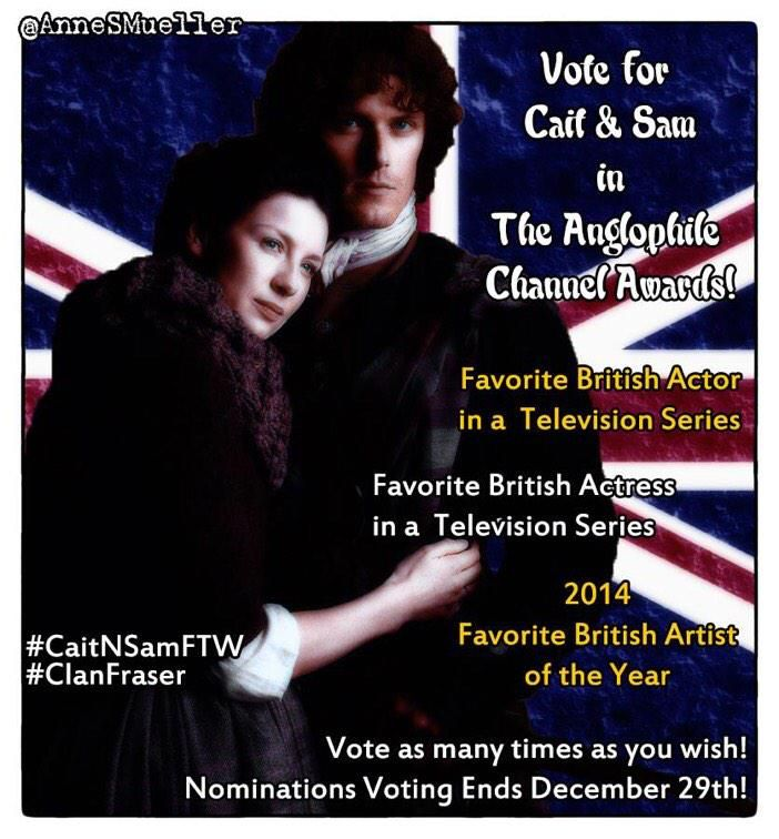 """""""LAST CHANCE Nominations Ends Dec 29  #Sam Fav TV Actor #Cait  Fav TV Actress  Unlimited Voting http://t.co/IAb09pmA6g"""""""