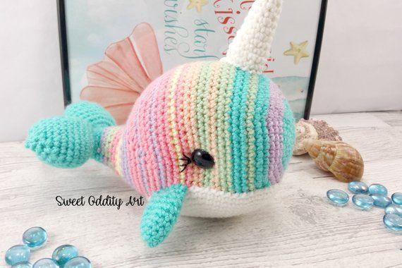 Whale Crochet Pattern Narwhal Crochet Pattern Crochet Whale