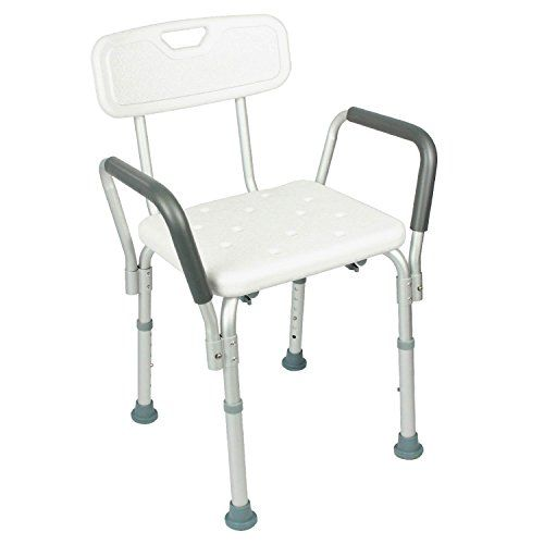 Shower Chair With Back By Vive Bathtub Chair W Arms For Handicap Disabled Seniors Elderly Shower Chairs For Elderly Shower Chair Bath Chair For Elderly