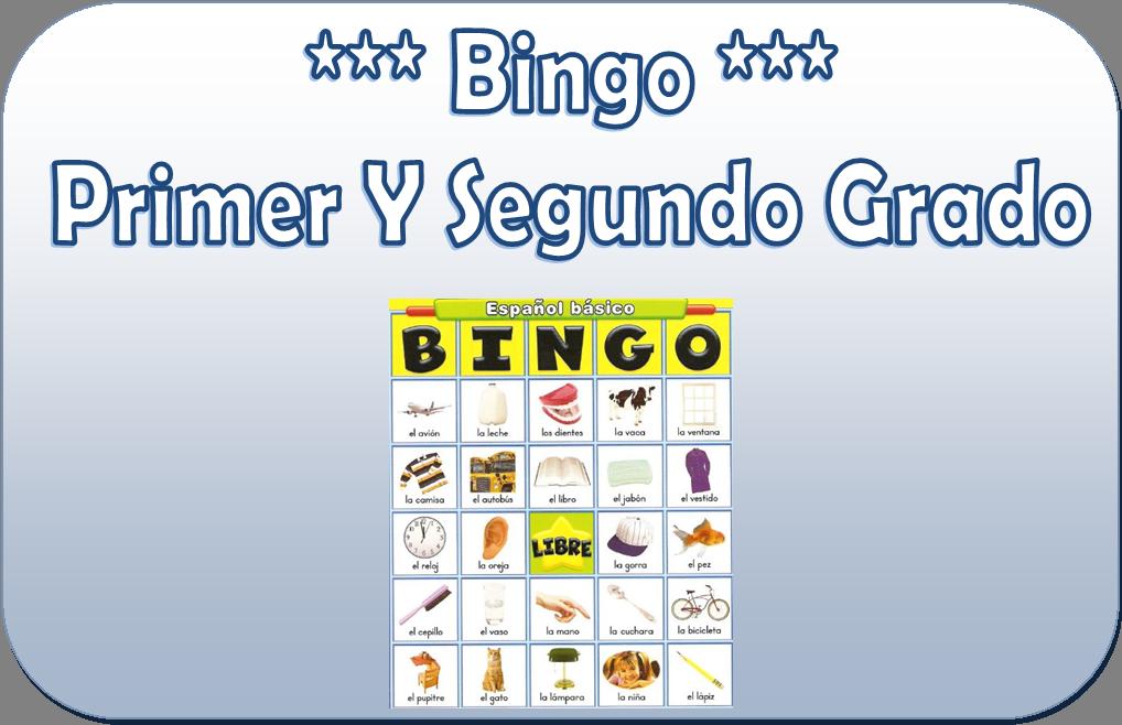 Bingo para primer y segundo grado de primaria http for Espanol lecturas cuarto grado 1993