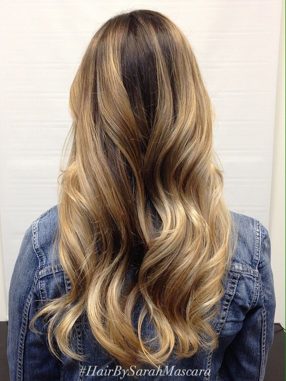 High contrast balayage technique