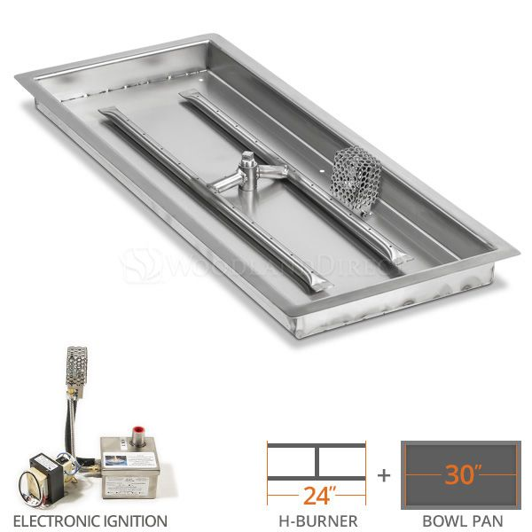 12 X 30 Linear Drop In Fire Pit Burner System Natural Gas Electronic In 2020 Electronic Workbench Linear Electronics