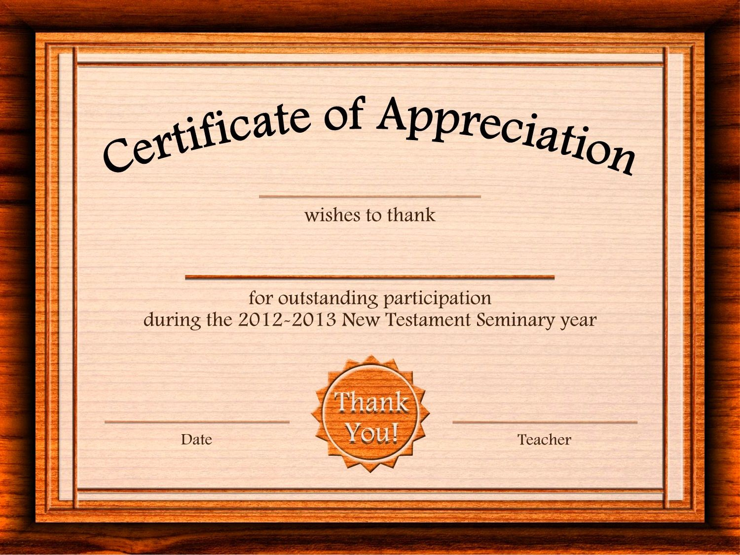 Free Appreciation Certificate Templates Supplier Contract Template