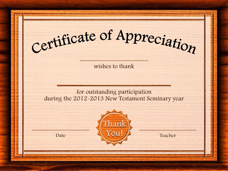 Free Appreciation Certificate Templates Supplier Contract