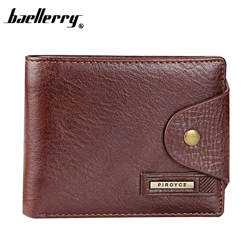 Baellerry Men/'s RFID Blocking Wallet Small Vintage Cowhide Leather Wallets Purse