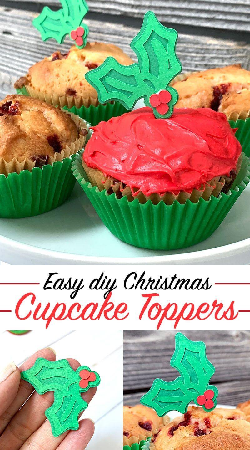 How To Make Easy Christmas Cupcake Toppers Christmas Cupcake