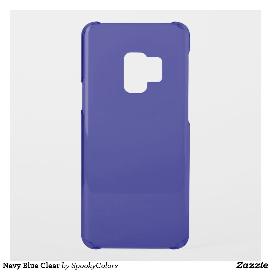 Navy Blue Clear Uncommon Samsung Galaxy S9 Case | Zazzle.com