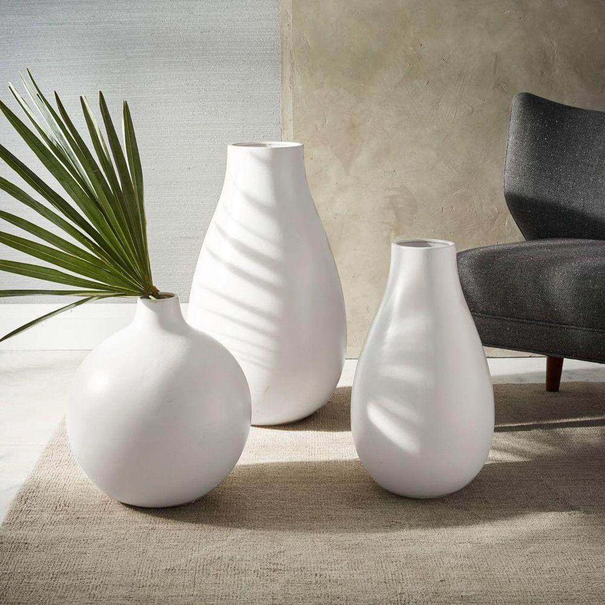 Oversized Pure White Ceramic Vases White ceramic vases