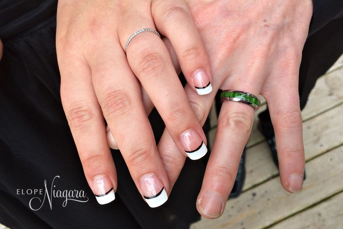 Black and white and green all over! A cool grooms wedding ring trend ...