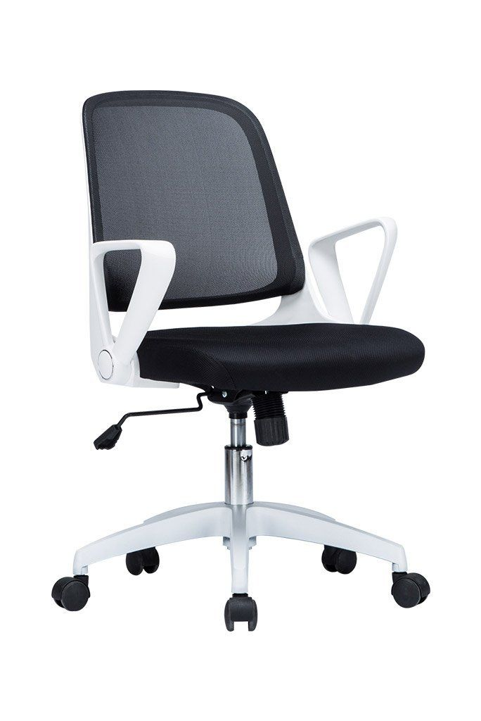 Amazon.com : VIVA OFFICE Fashionable Black And White Mid Back Office Chair,  Mesh Computer Chair Task Chair With Adjustable Armrests  Viva1508F9
