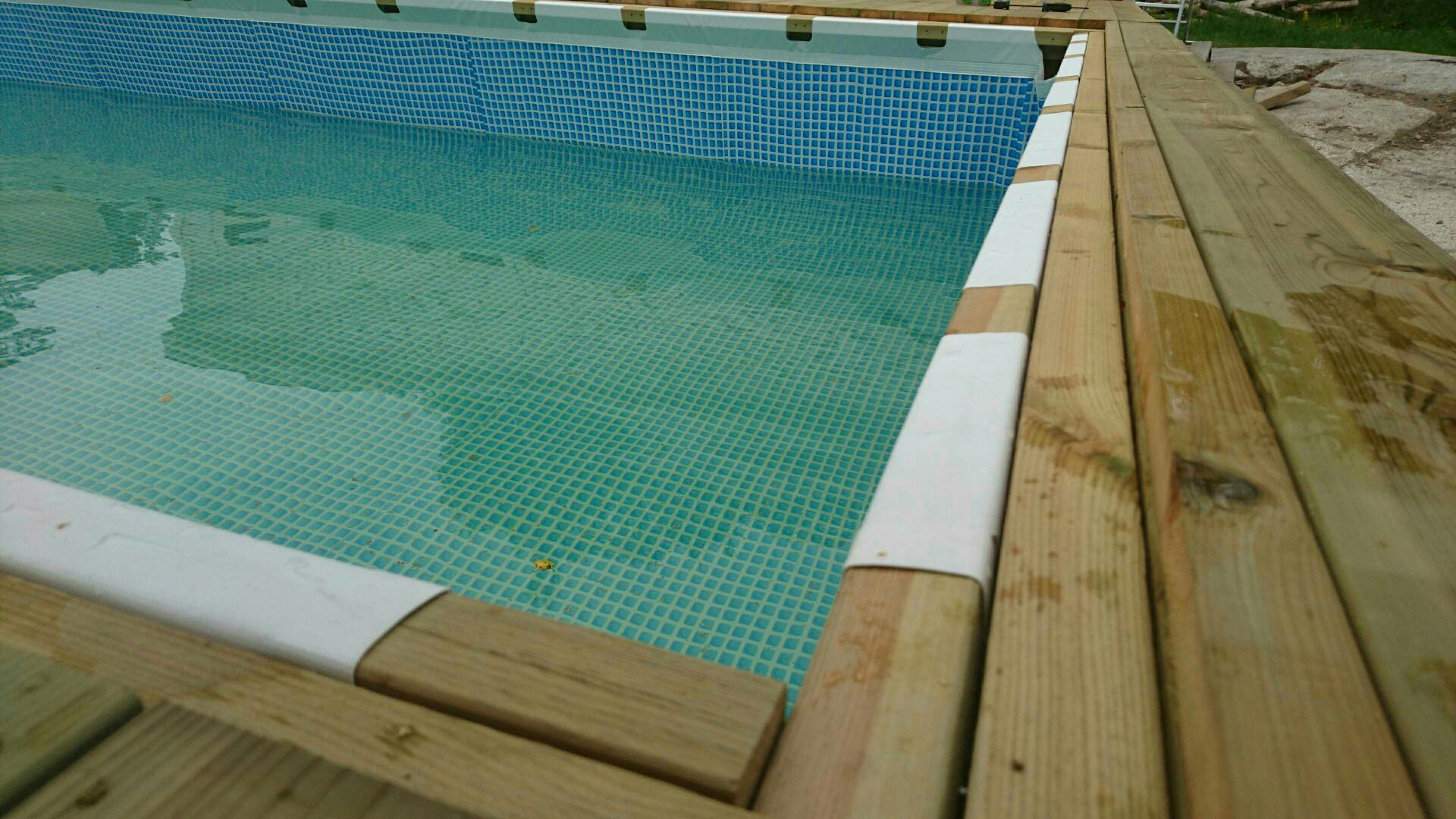Hanging a rectangular Intex Ultra Frame Pool directly from the pool ...