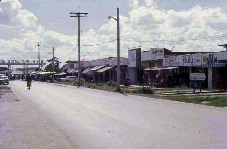 Main Gate to Udorn Royal Thai Air Base | Udorn 1973