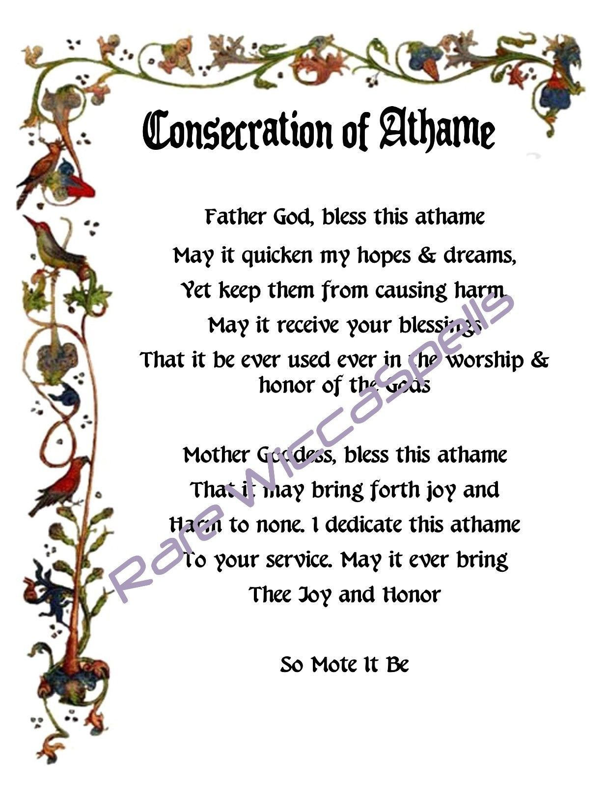 CONSECRATION & DEDICATION of Athame for Wicca Book of Shadows Pagan ...