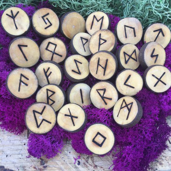 Maple Elder Futhark Rune Set from windfallen Maple by NorseWorks
