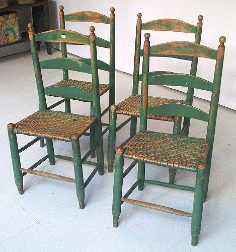 Ladderback Chairs-Perfect to go with the farmhouse table---I have a - Antique Ladder Back Chair Antique Furniture