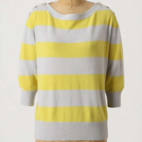 Grey and Yellow Striped Cashmere Sweater | Yellow stripes ...