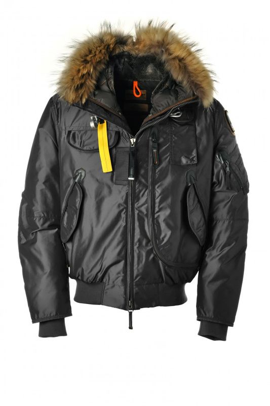 parajumpers gobi bomber jacket mens black down coat
