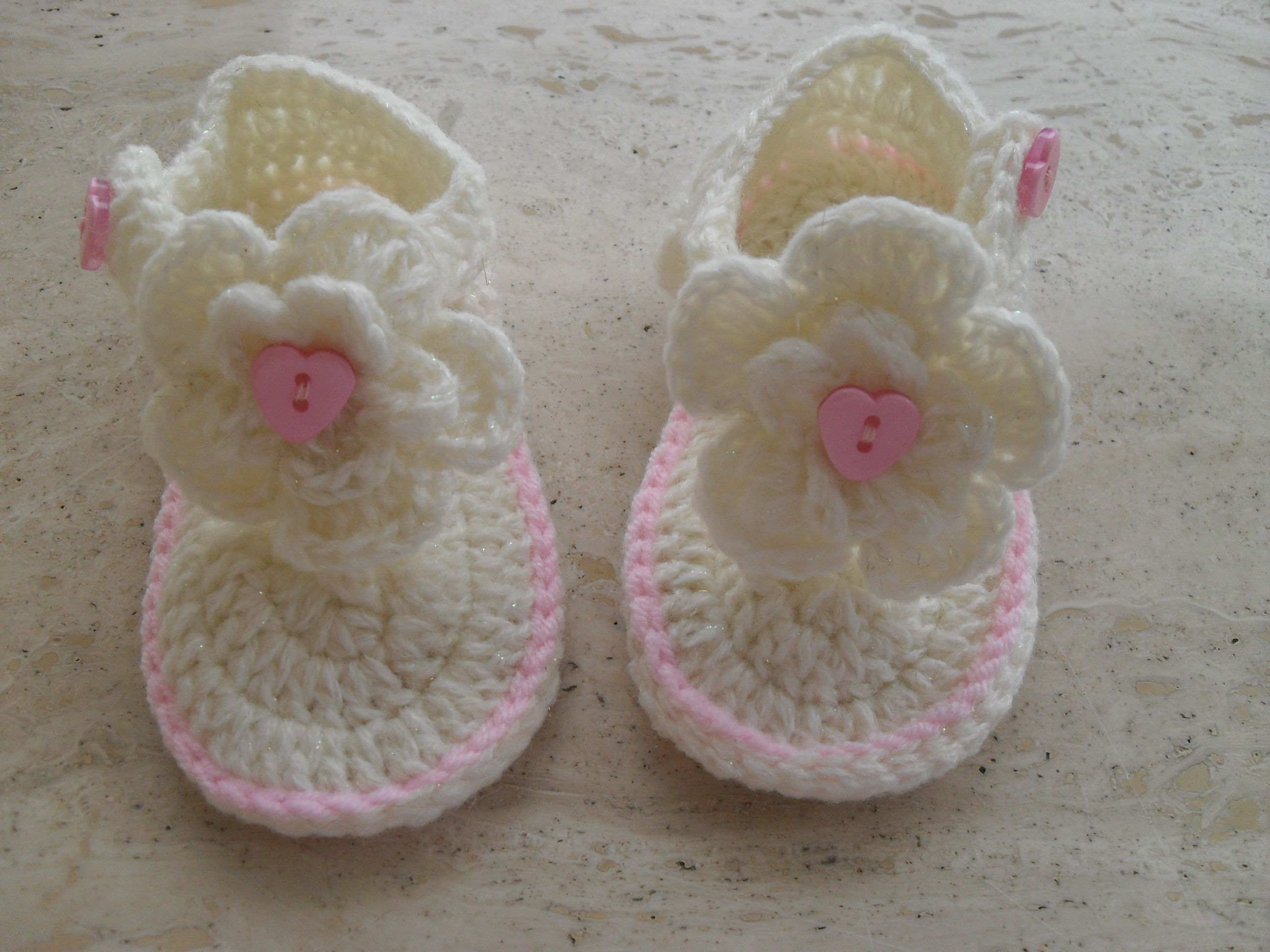 Really Pretty Baby Girl Crochet Sandals Ready Made to Go Now