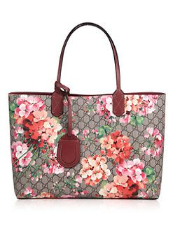Gucci - Reversible GG Blooms Large Leather Tote  2c66c54a97c40