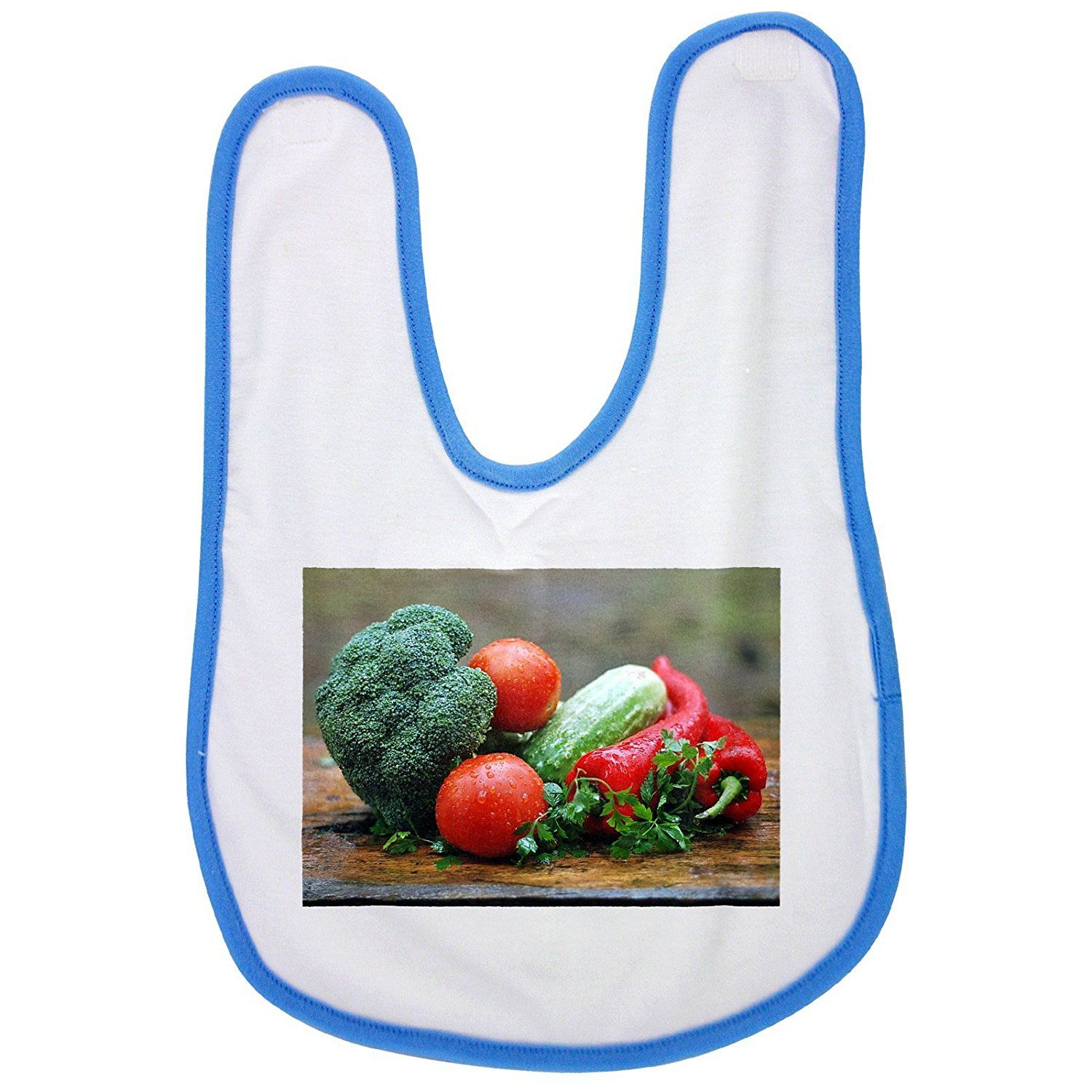 Vegetables, Healthy Nutrition, Kitchen baby bib in blue ** Details ...