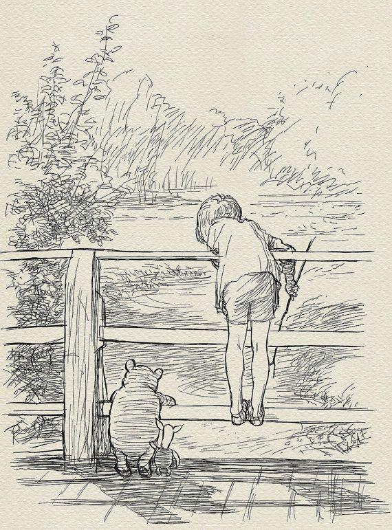 Pooh Sticks Winnie the Pooh Christopher Robin bridge by Poohland | Winnie  the pooh quotes, Pooh quotes, Winnie the pooh