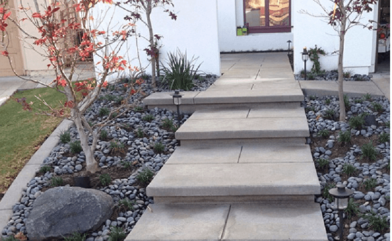 5 Modern Concrete Paver Ideas For Your Walkway Concrete Pavers Paver Paver Walkway