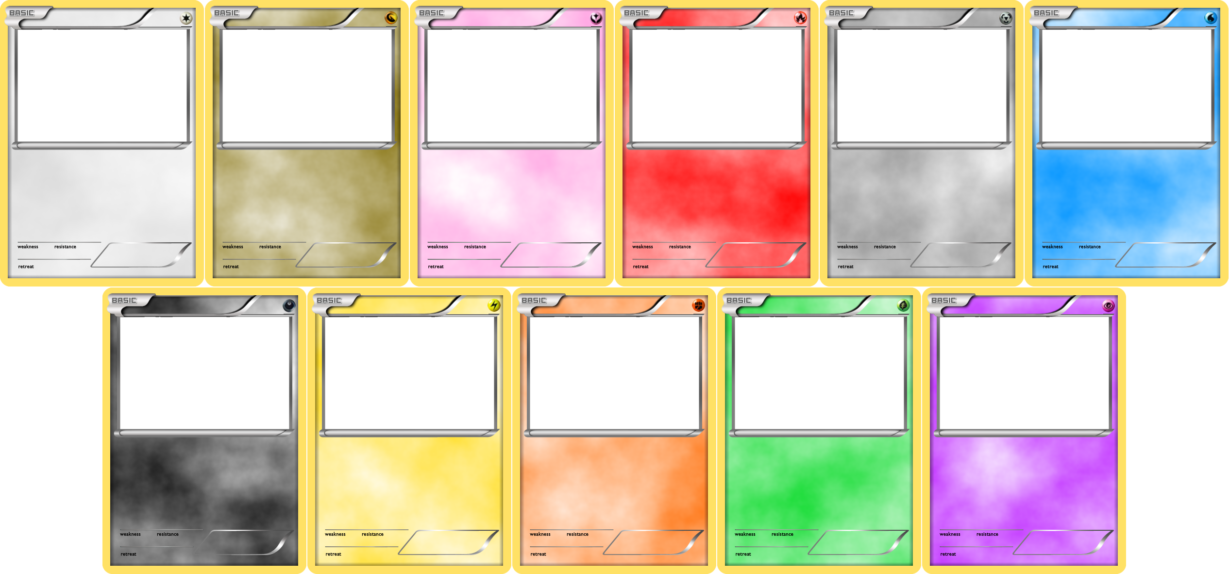 Pokemon Blank Card Templates By Levelinfinitumiantart On