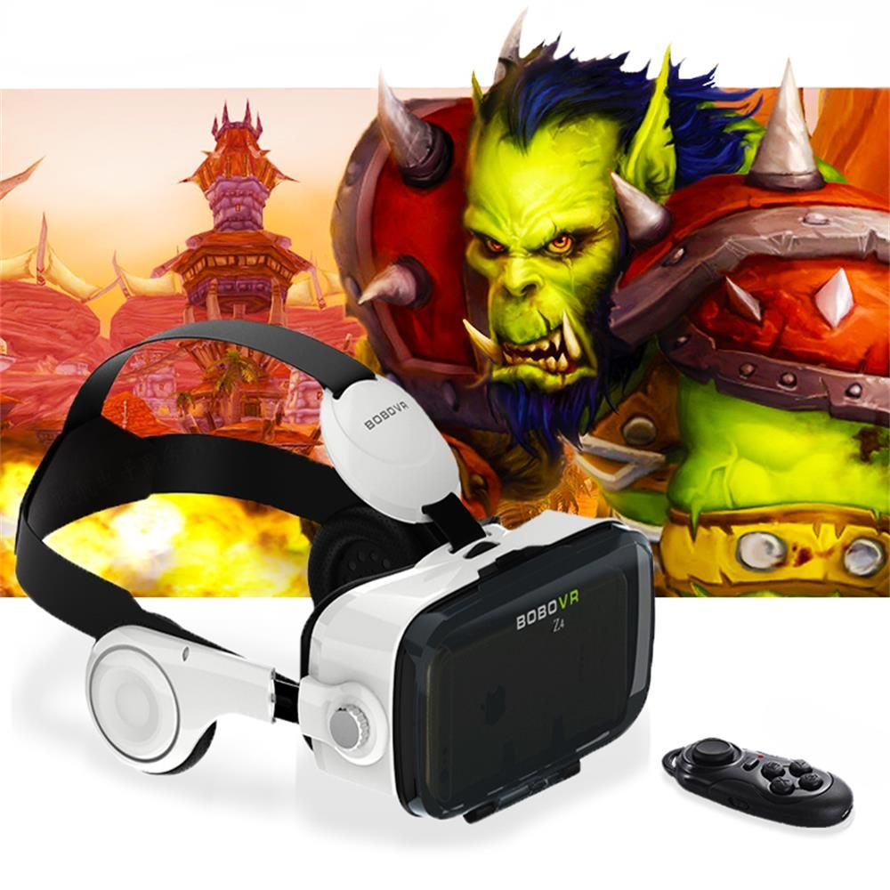 Hot! Google Cardboard Xiaozhai BOBOVR Z4 Immersive Virtual Reality Glasses BOBO VR For 4.7-6.2 inch Smartphone+ Bluetooth Gampad